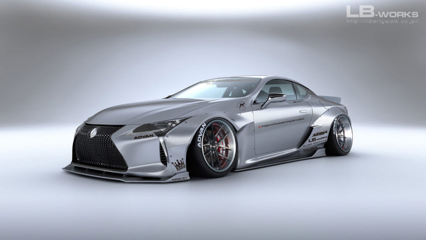 Liberty Walk pokazuje render body kitu do Lexusa LC 500