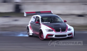 BMW 1-series swapped with E92 M3 front & LS3 V8