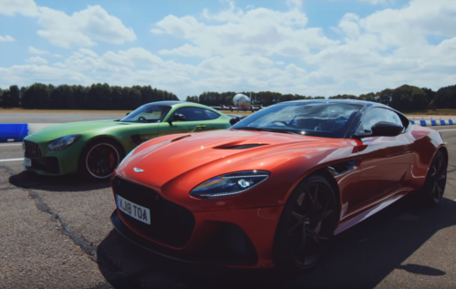 Drag: Mercedes AMG GTR vs Aston Martin DBS Superleggera