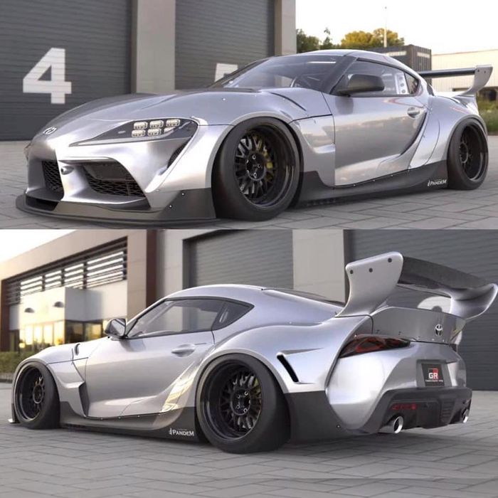 Toyota Supra w wide body kit od Pandem